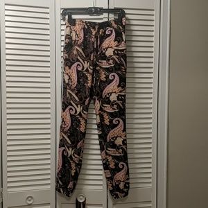 Elastic waist Paisley trainers with pinstripe side